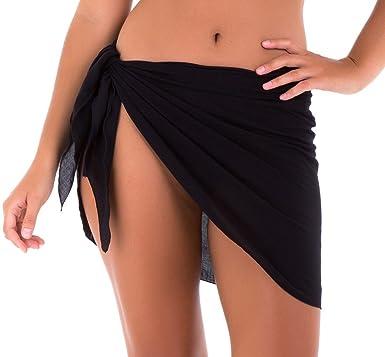 9b985db95a SHU-SHI Womens Bathing Suit Cover Up Sarong Pareo Beach Skirt Short ...