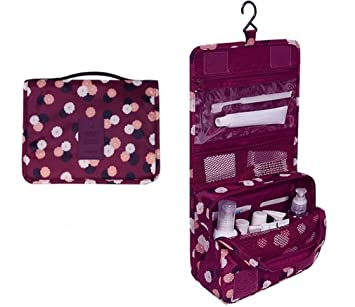 Amazon.com : Travel Waterproof Portable Women Cosmetic Organizer Pouch Hanging Wash Bags Man Toiletry Bag Cute Makeup Neceser Sac Maquillage : Beauty