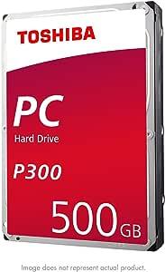 Toshiba P300 500GB Desktop 3.5 Inch SATA 6Gb/s 7200rpm Internal Hard Drive