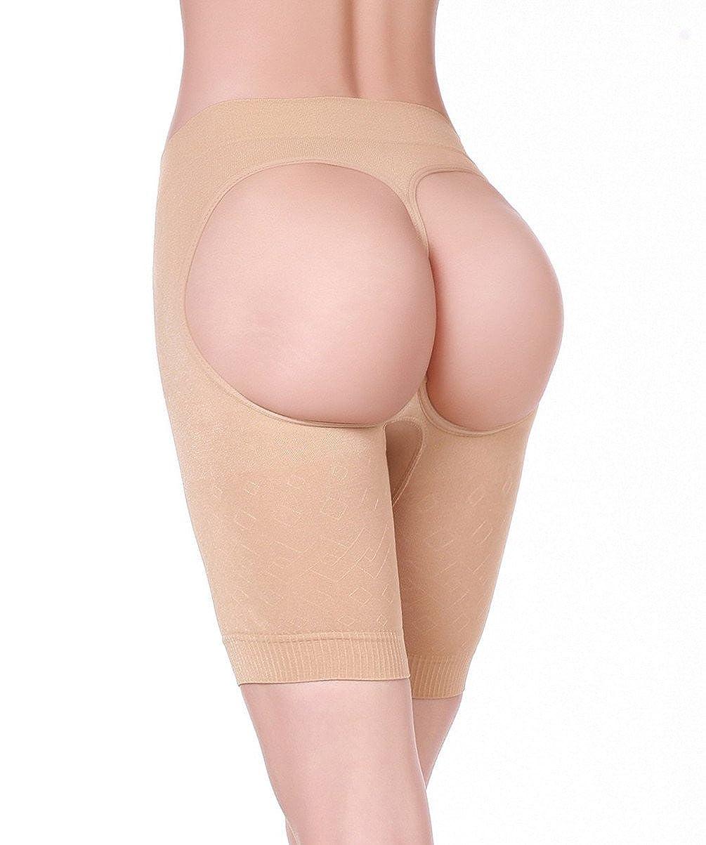 HOLYSNOW Women Low Waist Butt Lifter Boyshorts Thigh Slimmer Underpants Hip Enhancer Control Knicker UKHSM803