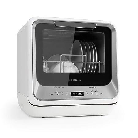 Klarstein Amazonia Mini - Lavavajillas , Máquina lavaplatos , 6 programas: eco, una hora, rápido, fruta, desinfección por calor, vidrio , Necesita 5 ...