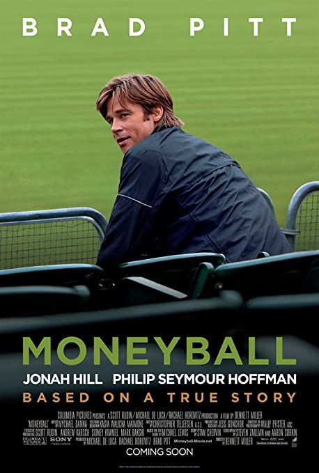 Poster of Moneyball 2011 Full Hindi Dual Audio Movie Download BluRay 720p