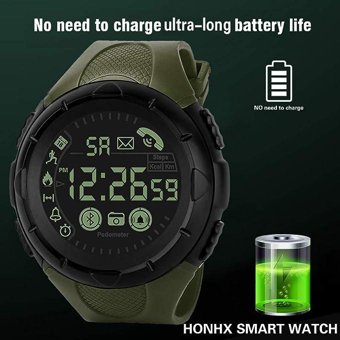 Amazon.com: Redvive Top Fashion Mens Smart Watch Bluetooth ...