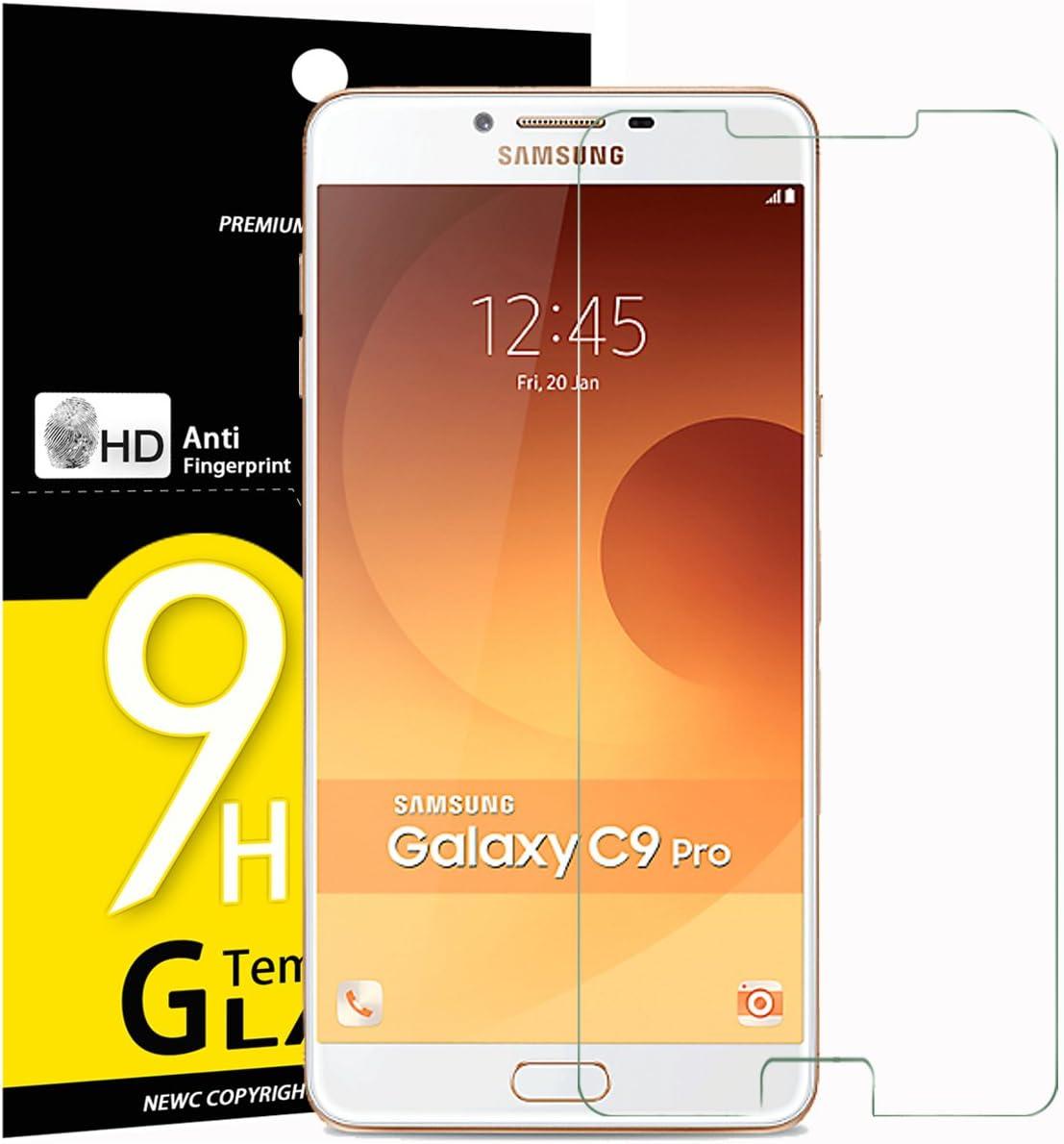 NEWC 3 Unidades, Protector de Pantalla para Samsung Galaxy C9 Pro C9000, Vidrio Cristal Templado: Amazon.es: Electrónica