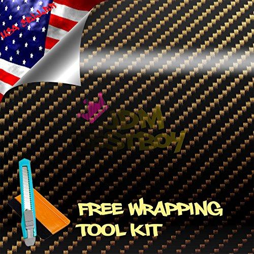 free-tool-kit-2d-high-gloss-glossy-premium-gold-carbon-fiber-vinyl-wrap-sticker-decal-film-sheet-bub
