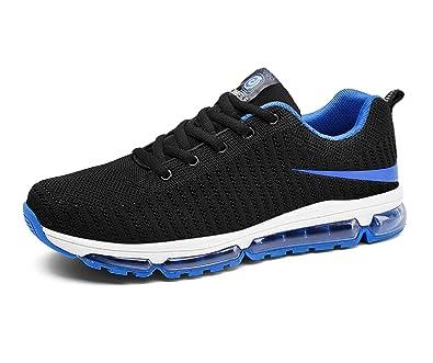 5bb242ce3bc Santimon Chaussures Hommes Anti Choc Ultra Léger Confortable Flyknit  Résistant à l usure en Plein air Chaussures de Sport  Amazon.fr  Chaussures  et Sacs