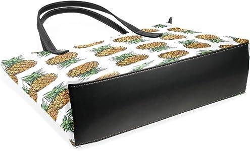 Amazon.com: Frutas Piña pintura bolsos de piel bolsos hombro ...