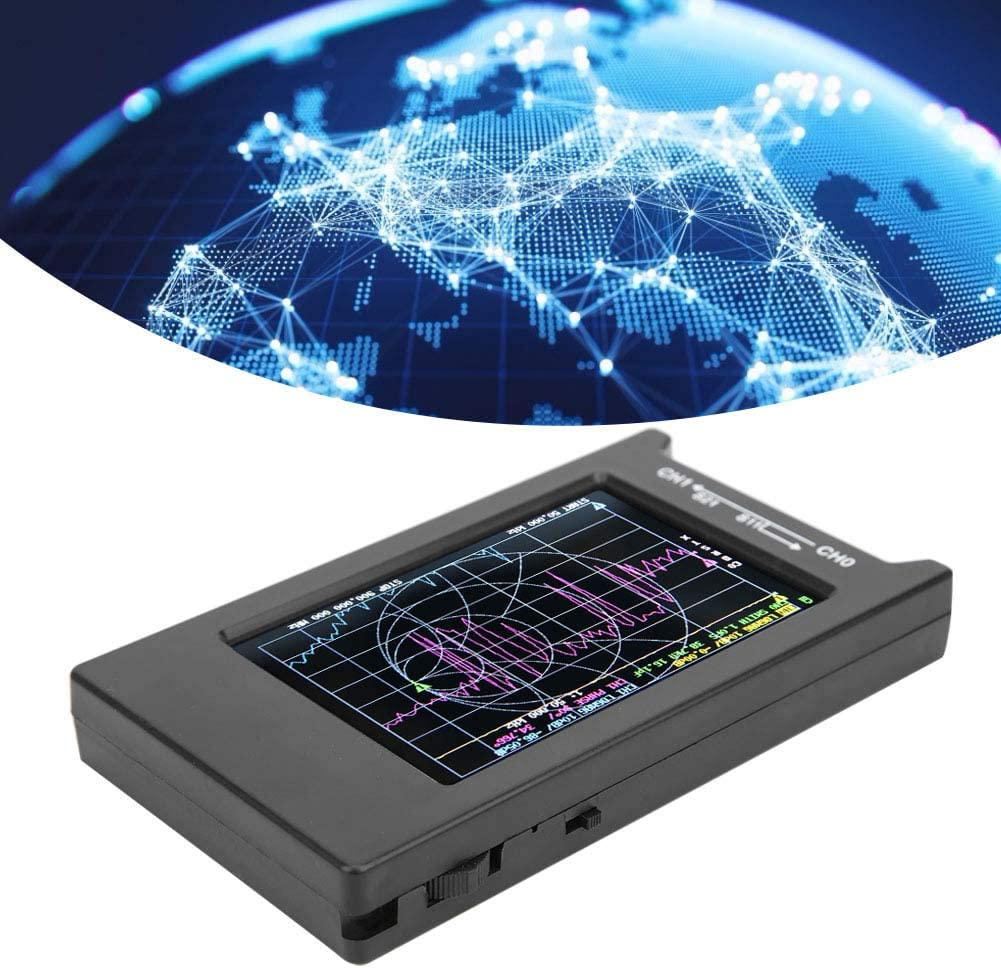 Walfront Vector Network Analyzer Portable VNA Measurement Tool 10K‑1.5G Spectrum Analyzers Antenna Analyzer USB Type-C 4in Display