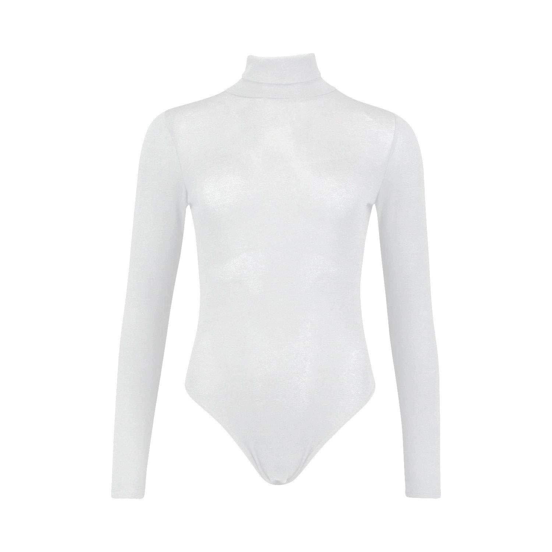 VKA39 Body para Mujer Yada con Manga Larga y Cuello Alto e Interior de Felpa