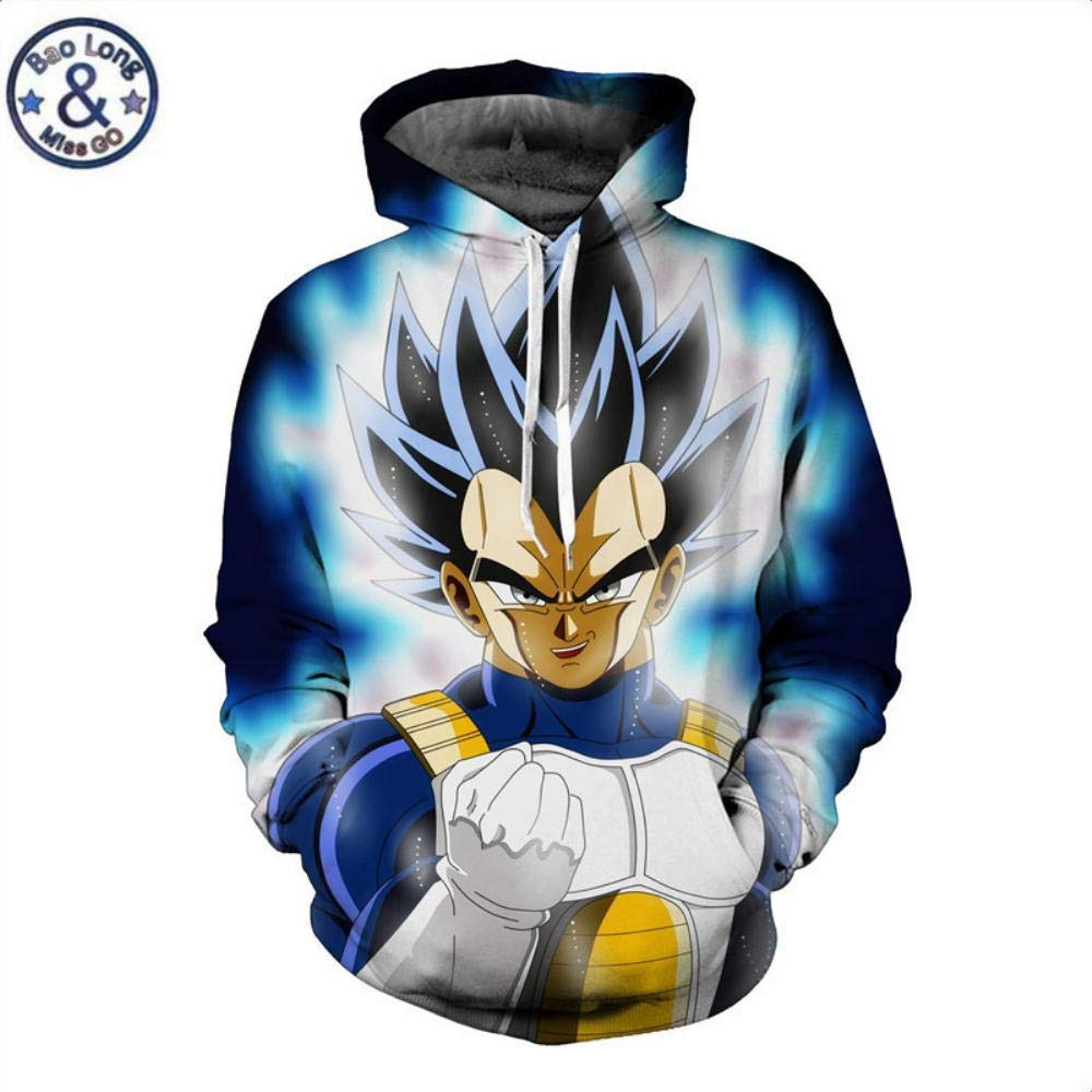 Amazon.com: HOOSHIRTA Men 3D Hoodie Sweatshirt Dragon Ball Hoodies Hooded Coat Naruto Super Saiyan Blue egeta Printed Cartoon Sudaderas Hombre,5,XL: Sports ...