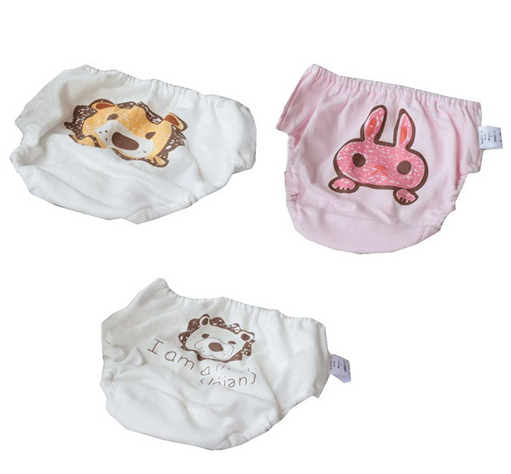 Set of 3 High Quality Baby Underwears Lion & Rabbit White Bloomers BT-CLO2237471011-EMILY02148