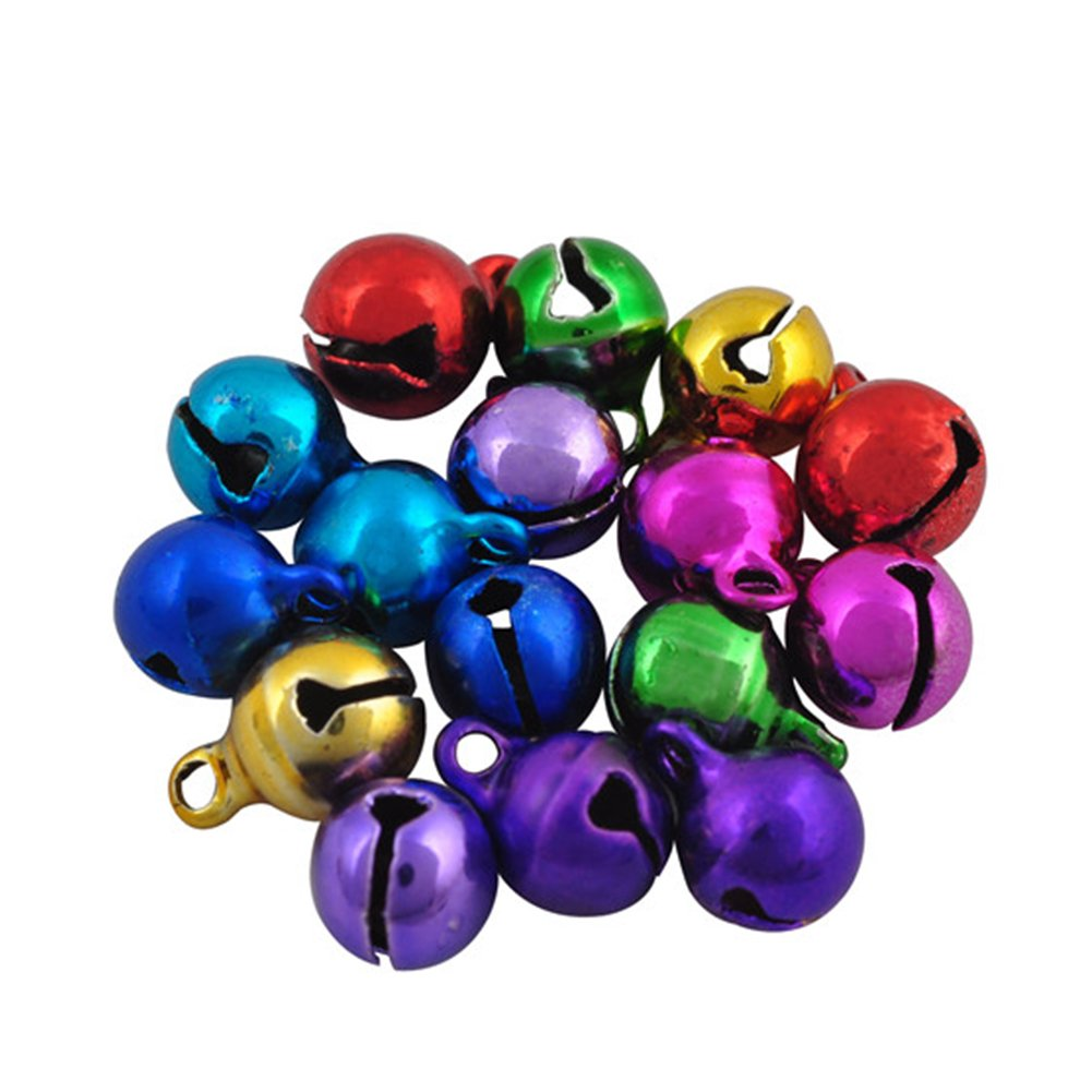 100Pcs Da.Wa Assorted Colors Jingle Bells Loose Beads Charms Jewelry Marking 10MM