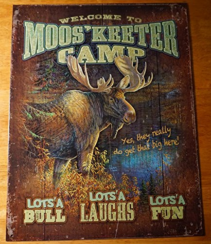 Welcome To Mooskeeter Camp Rustic Moose Lodge Log Cabin Home Decor Sign