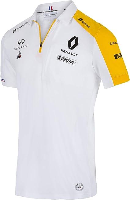 Renault F1 Team Polo Oficial para Hombre 2019, Color Blanco, Color ...