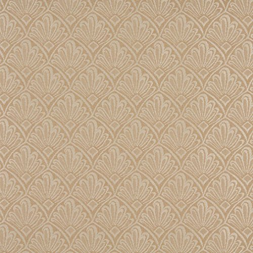 A126 Beige And Tan Two Toned Fan Upholstery Fabric By The Yard