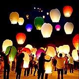 20 PCS Sky Lanterns Paper Lanterns Chinese Wishing Lantern For Birthday Wedding Party