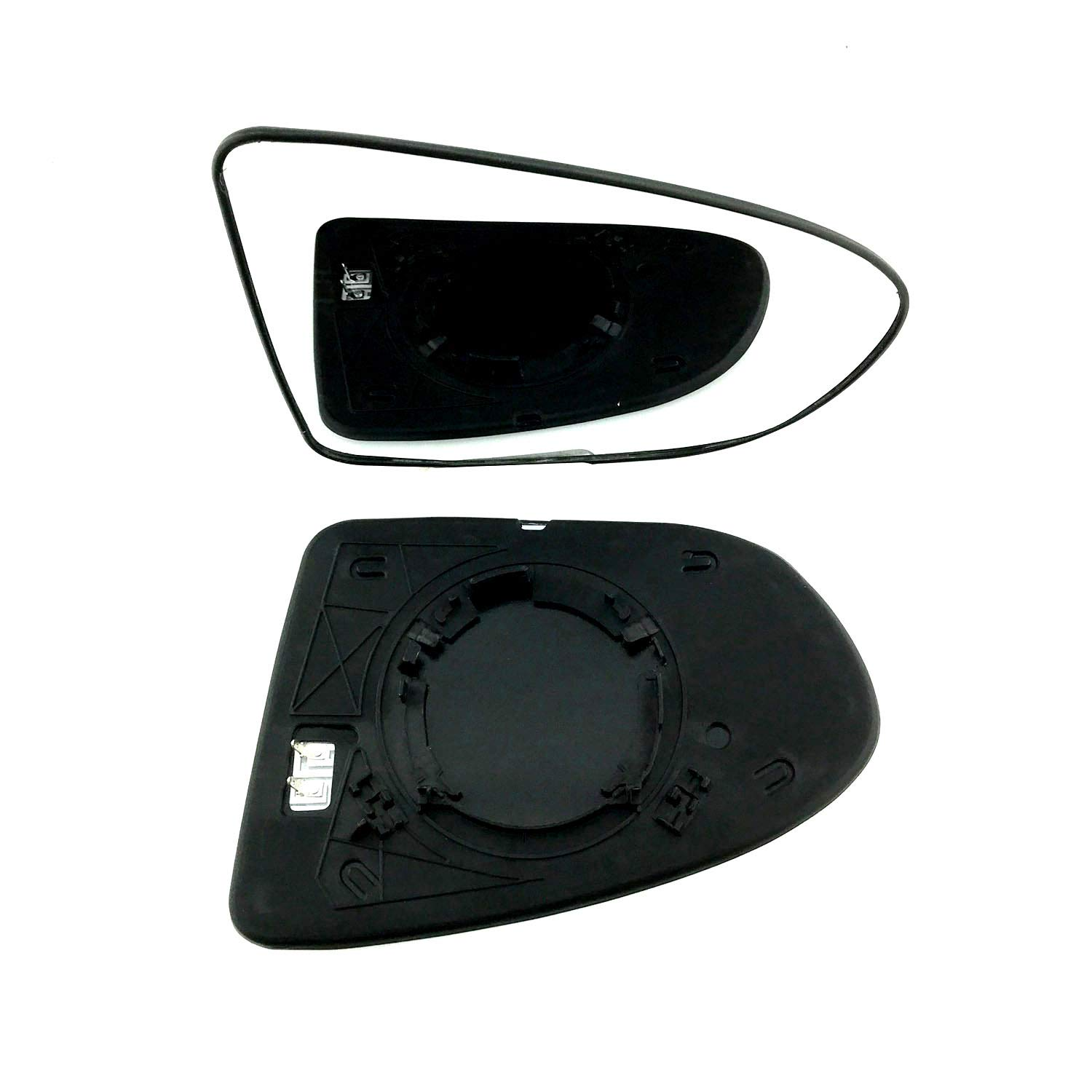 Passenger Side Non Heated Round type Fitting Silver Wing // Door Mirror Glass Including Base Plate LH