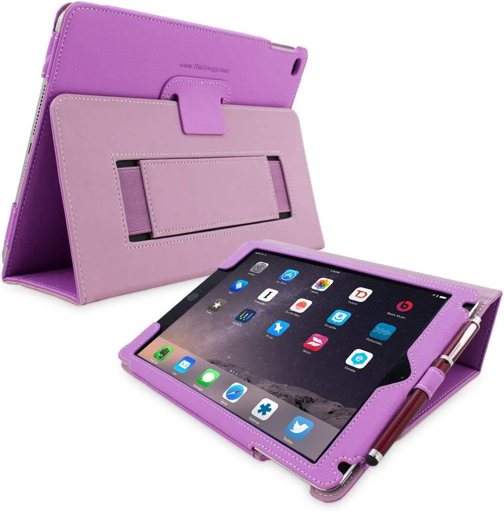 Snugg iPad 3 & 4 Case - Smart Cover with Flip Stand & (Purple Leather) for Apple iPad 3 and 4