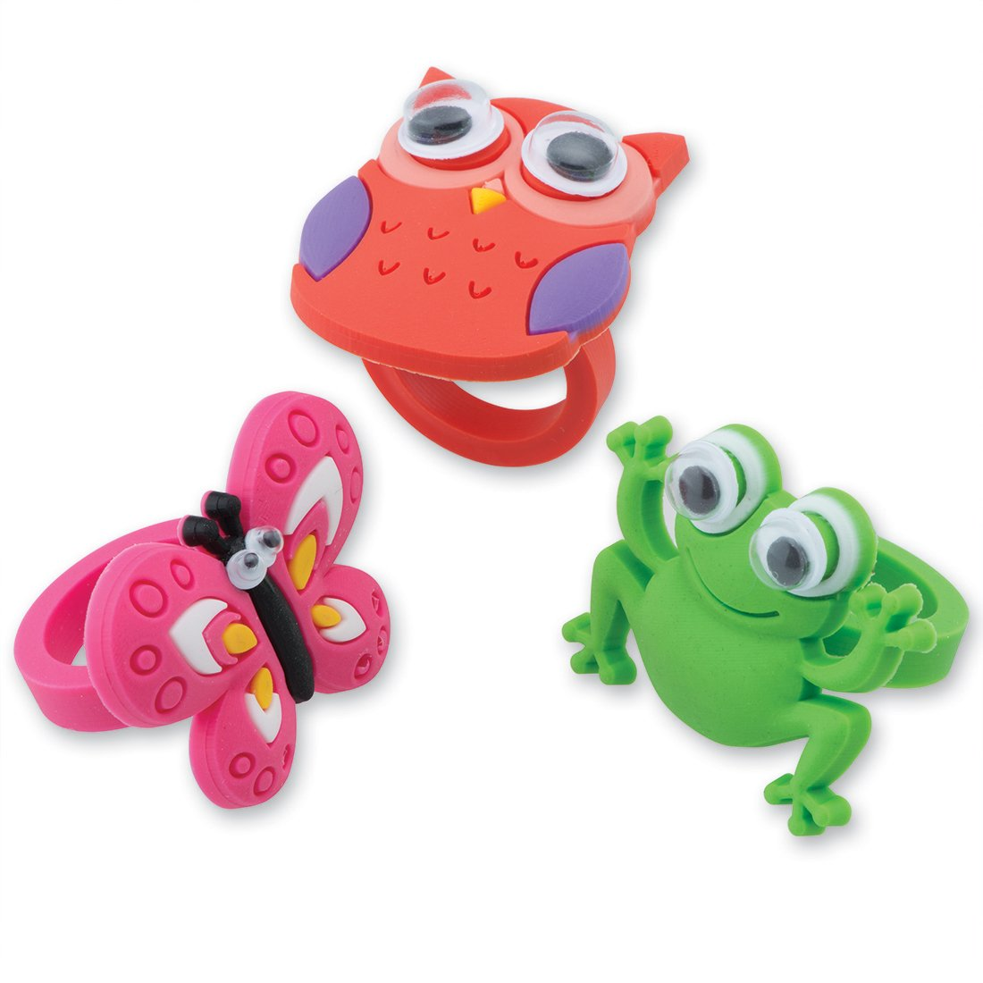 SmileMakers Cute Creature Rings - Prizes 48 per Pack by SmileMakers