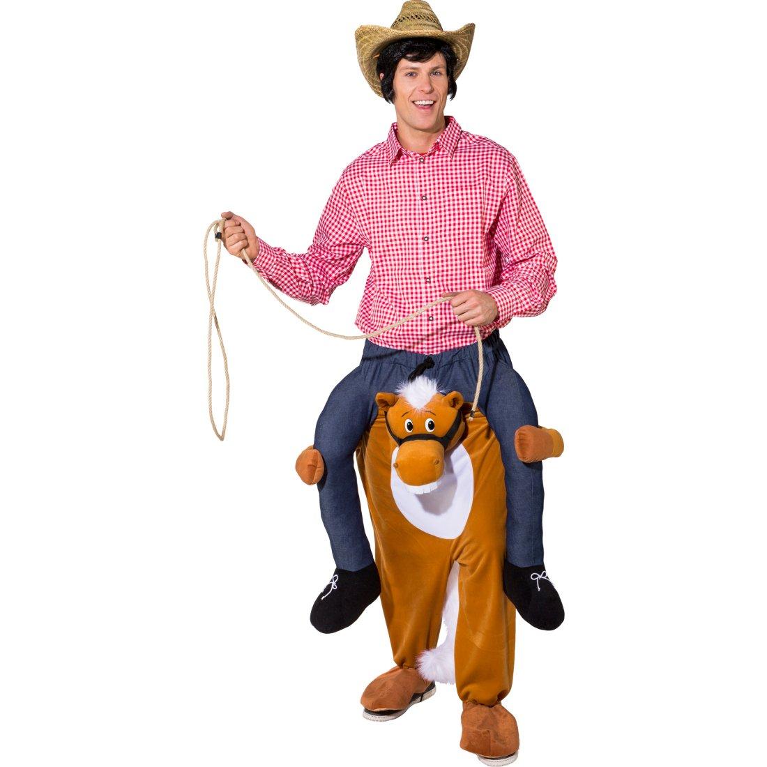 conveniente Traje Llévame Caballo - 1,80-1,95m   Disfraz Montando en en en Caballo   Traje Montable Póney   Disfraz Animal a Hombros  costo real