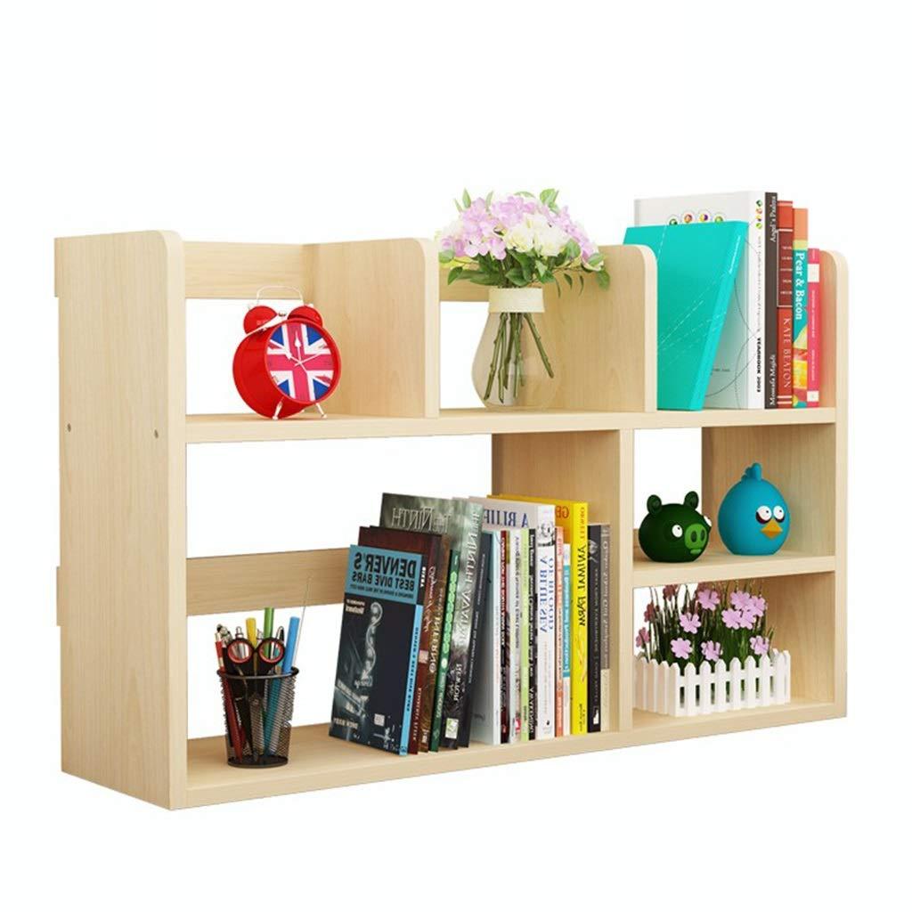 Librerías Estante para Libros Estantería de Madera Maciza estantería pequeña para Estudiantes estantería de Escritorio Creativa Estante de Almacenamiento de múltiples Capas