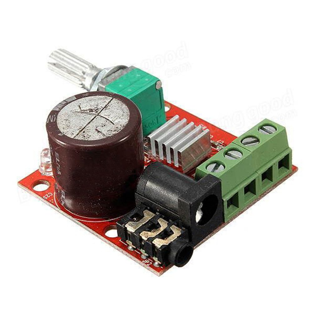 Hiletgo Pam8610 Mini Stereo Amp Audio Amplify Board 2 Channel Subwoofer Amplifier Circuit Diy Digital Portable Ampli Module 10w Dual Class D 12v Dc Home