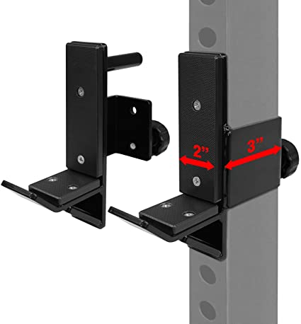 vikofan 3x3 J-Cup J-Hook Barbell Holder Power Rack Weight Rack Attachments for Weight Lifting Strength Training