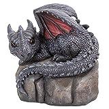 Garden Dragon Decorative Accent Sculpture Stone Finish 10 Inch Tall