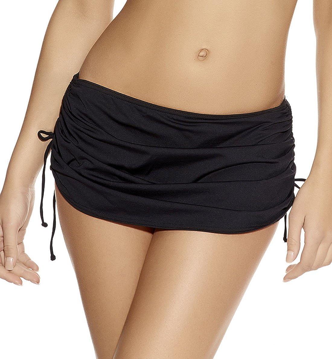 Crazycatz@Women Mix Skirted Bikini Brief Bottoms Plus Size Swim Skirt