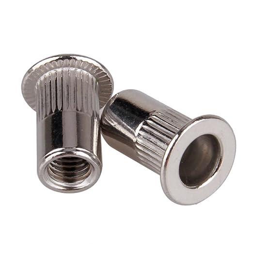 50/flach Kopf M5/304/Edelstahl Stahlgewindebuchse Pull Stift Mutter