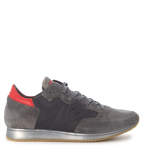 Philippe Model Sneaker Tropez in Pelle E Suede Grigio b5510c19e17