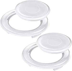 Bememo 2 Inch Patio Table Umbrella Hole Ring and Cap Set, Standard Size Umbrella Thicker Hole Ring Plug and Cap Set (Translucent, 2 Set)