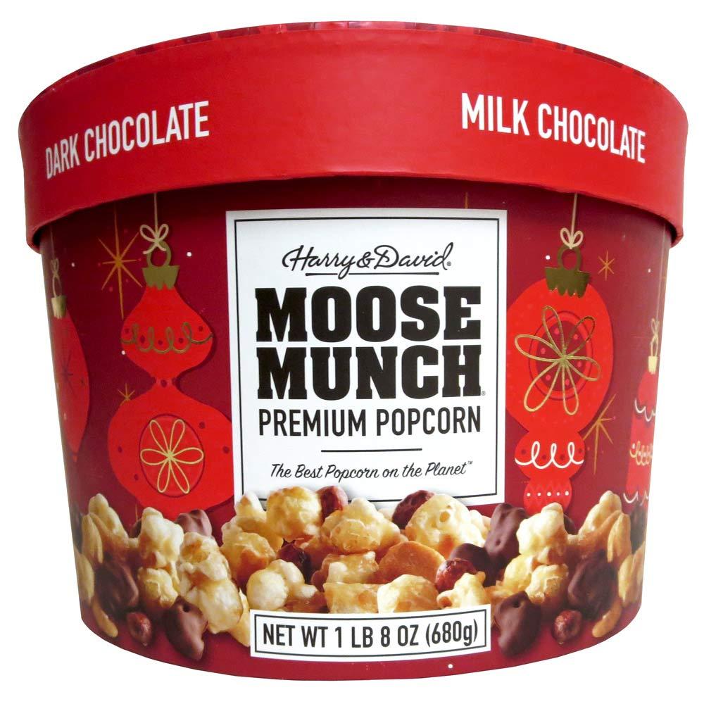Harry & David Moose Munch Premium Popcorn Holiday Drum 24 oz