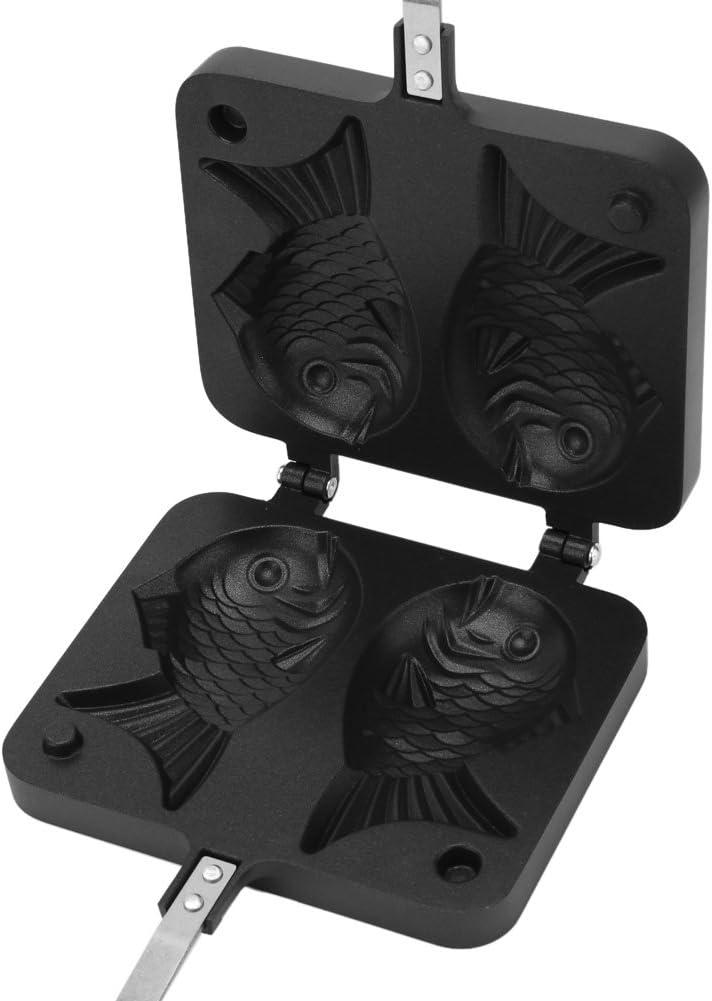 Antihaft Waffeleisen Aluminiumlegierung Backform Kuchen Backformen mit 2 mit Seiten versehener Fisch Form