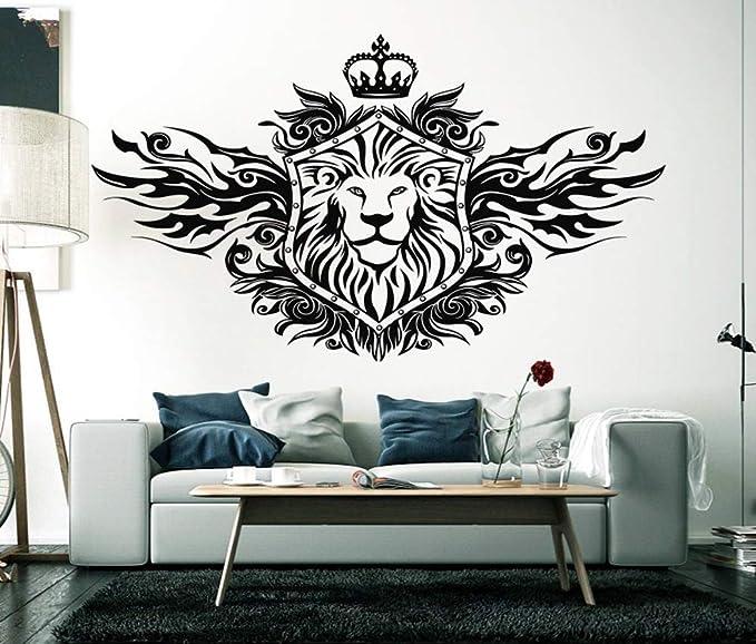 guijiumai Rey león Corona Tatuajes de Pared Sala de Estar ...