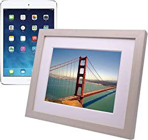iPad Picture Frame,iPad Holder,Turn the iPad into a WIFI Cloud Digital Photo Frame,Perfect Visual and Interactive Experience,Wall&Tabletop Picture Frame for Home or Office,Fits for 9.7 in iPad (Beige)