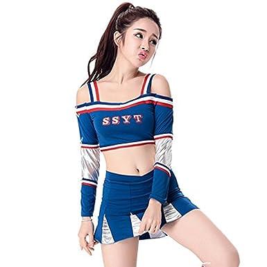 Babyicon Damen Cheerleader Kostume Outfit Fussball Sport