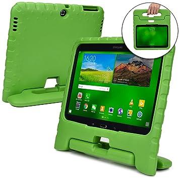 Funda Infantil Cooper Cases (TM) Dynamo para Samsung Galaxy Tab 4 10.1 & 3 10.1 en Verde + Protector de Pantalla gratuito (Ligera, absorción de ...