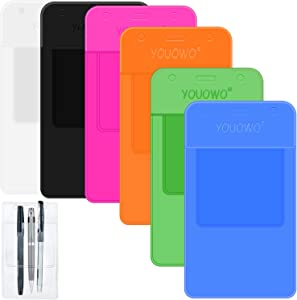 Pocket Protectors YOUOWO 6 Pack Heavy Duty Pocket Protector Clear for Shirts Lab Coats Pants Multi Purpose- Holds Pens Pointers Cards Pocket Protector for Pen Leaks (Multicolor-6Pack)