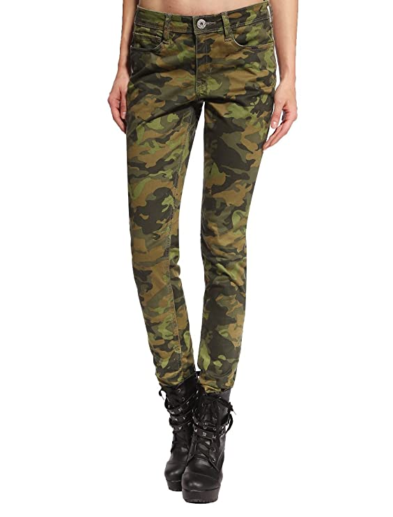 ebaae543a9b6 Anladia Womens Camo Military Army Cargo Pencil Denim Pants Skinny Jeans  Leisure Trousers Size 4  Amazon.co.uk  Clothing