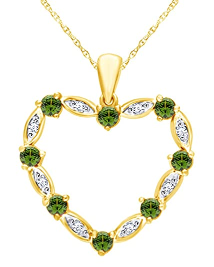 Wishrocks White Cubic Zirconia Tree of Life Pendant Necklace in 14K Yellow Gold Over Sterling Silver