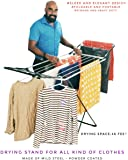 Celebrations Fast Dry Cloth Dryer Stand - Sturdy and Sleek Folding Clothes Drying Stand for Drying All Kinds of Indian attires(Grey)