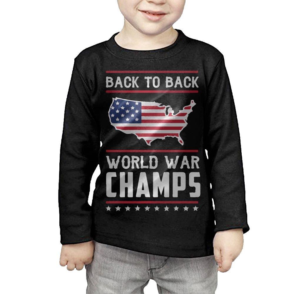 Toddler Back-to-Back World War Champs ComfortSoft Long Sleeve Shirt