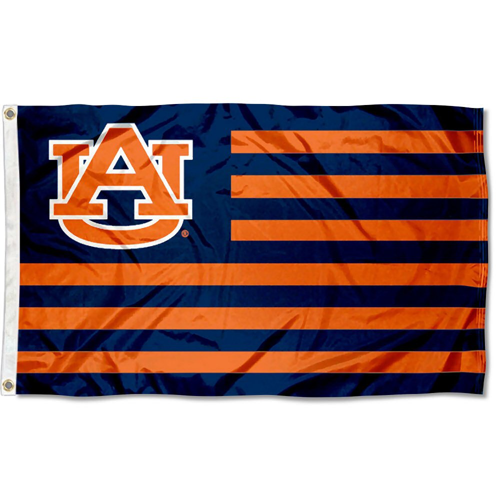 オーバーンTigers Stars and Stripes Nation Flag B07CZNWRSJ 10507