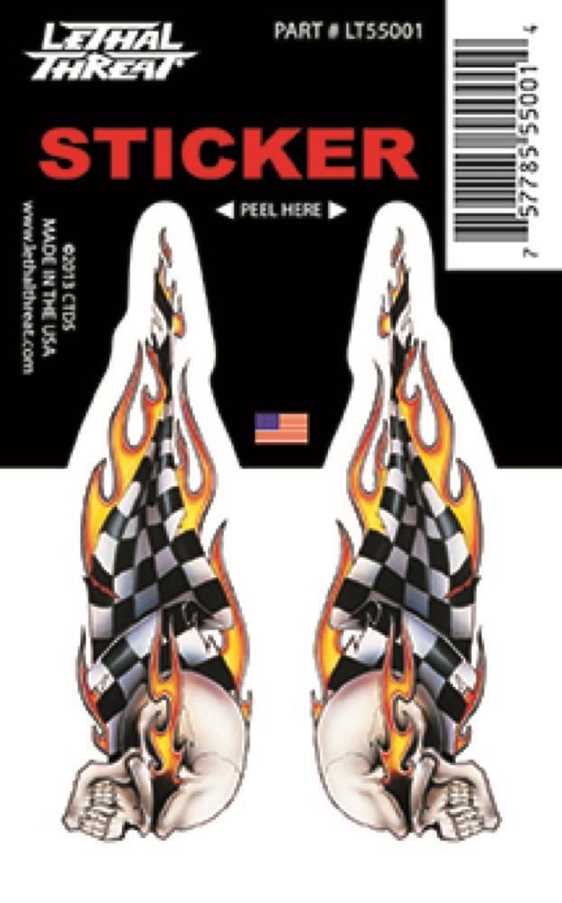 veicoli tavole da skate Petit LT55001 Adesivi per auto LETHAL THREAT Sticker tavole da surf moto caschi