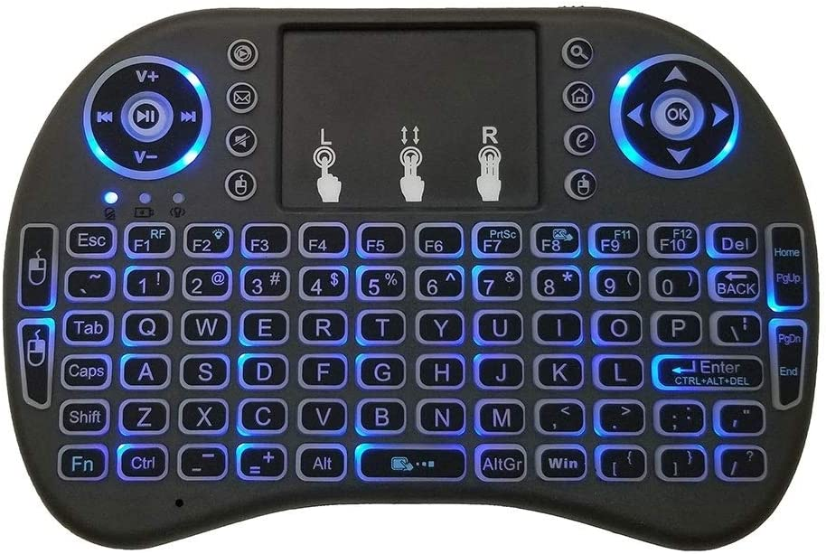 SHIFENX Support Language English i8 Air Mouse Wireless Backlight Keyboard with Touchpad for Android TV Box /& Smart TV /& PC Tablet /& Xbox360 /& PS3 /& HTPC//IPTV