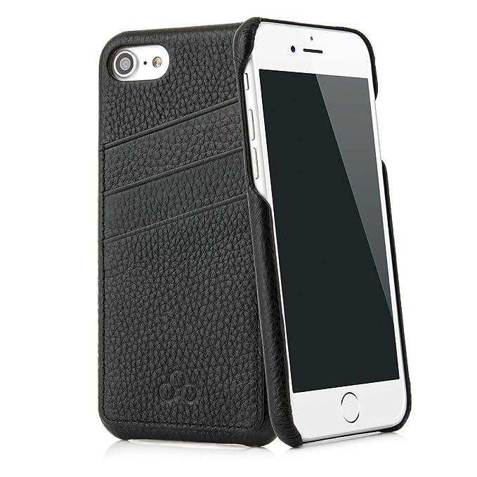 3 opinioni per Custodia iPhone 7 No. 3 in pregiata vacchetta per Apple iPhone 7, colore nero-