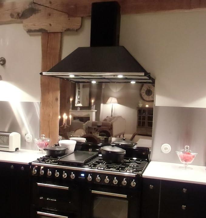 Pérgola de acero inoxidable para cocina/fondo de campana extractora, espejo: Amazon.es: Hogar
