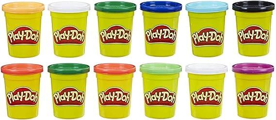 Play-Doh - Pack 12 Botes Colores Frios (Hasbro E4830F02): Amazon ...
