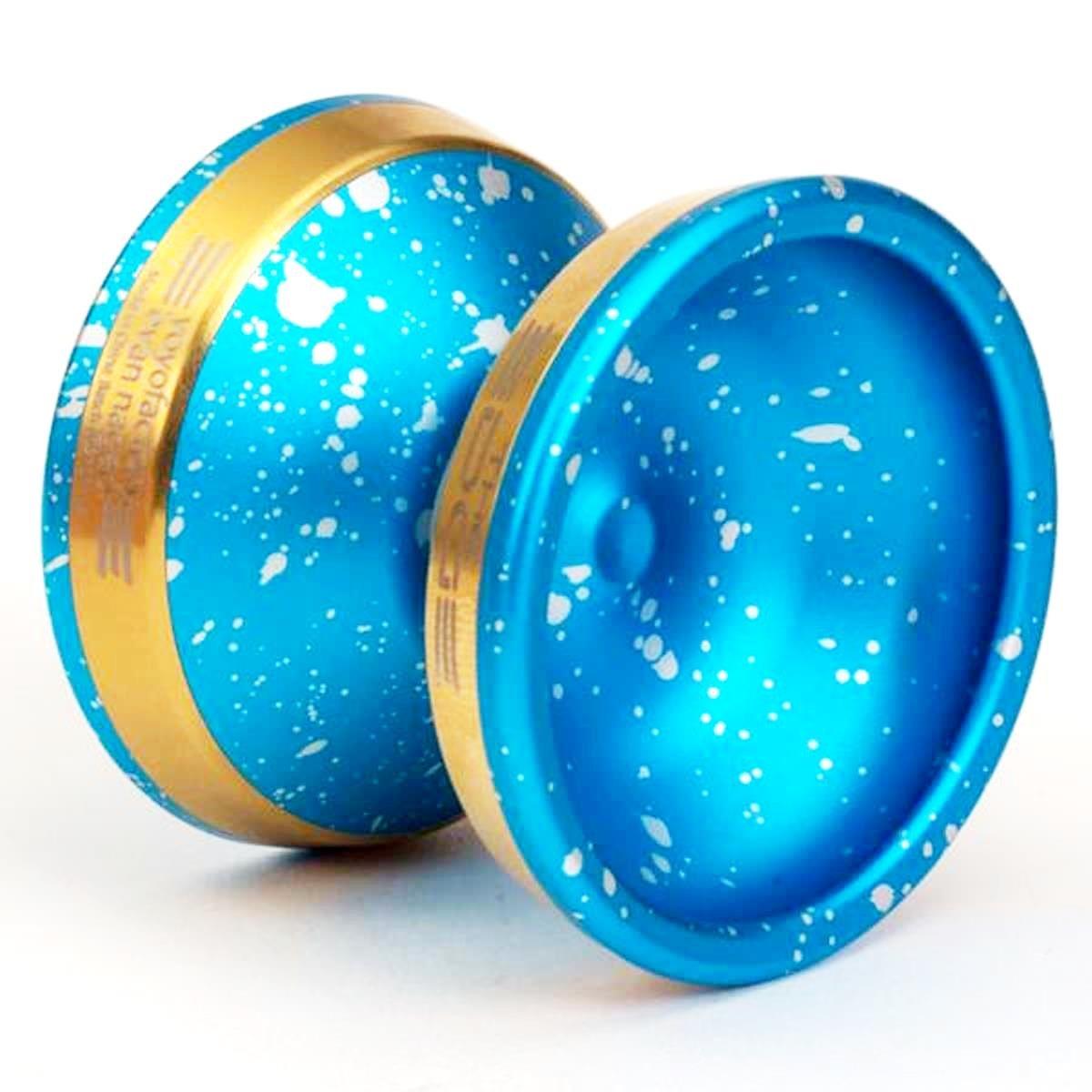 Edge Yoyo by YoYoFactory Color Blue Acid Wash with Gold Edge Rims